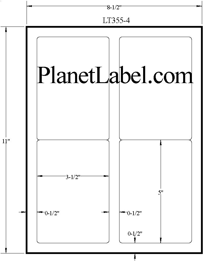 2 x 5 label template 836