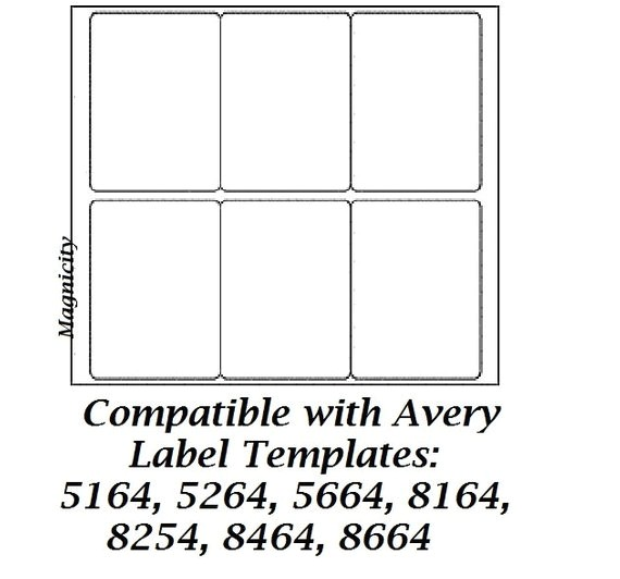 Avery 2 X 3 Label Template 60 3 5 X 4 Labels 10 Sheets Shipping Labels by