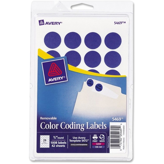 ave05469 avery t5469 round color coding label
