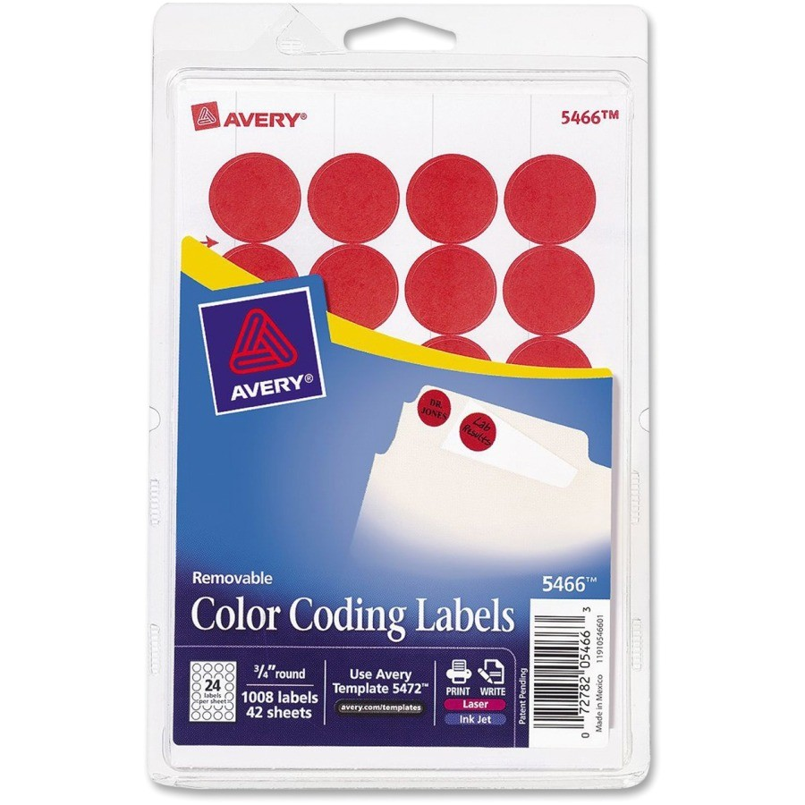 avery color coded label ave05466