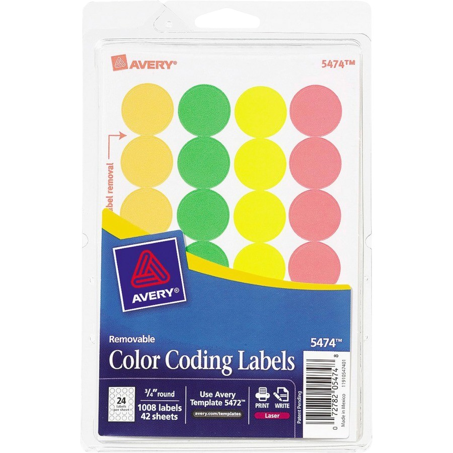 Avery 3 4 Round Labels Template Avery 3 4 Quot Round Color Coding Labels Zerbee
