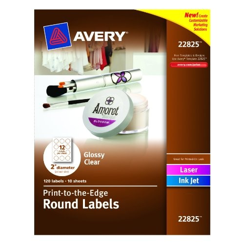 Avery 3 4 Round Labels Template Avery Print to the Edge Round Labels Glossy Clear 2