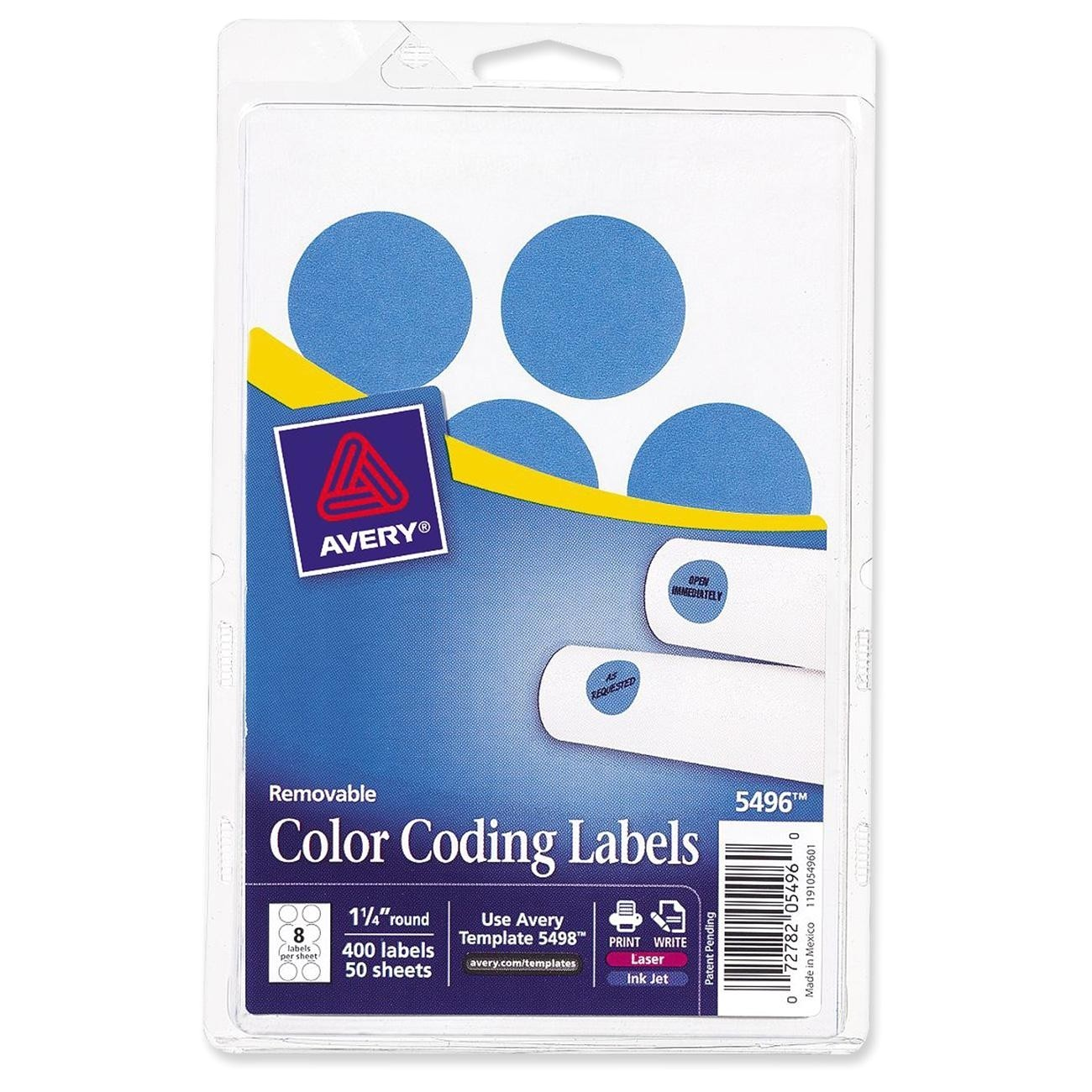 Avery 3 4 Round Labels Template Avery Round 1 25 Quot Color Coding Multipurpose Label 400