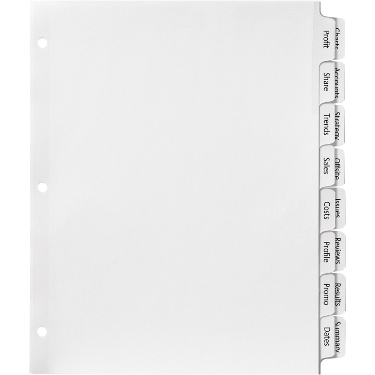 Avery 3 Column Label Template Avery Double Column Im Divider 16 Per Set Ld Products