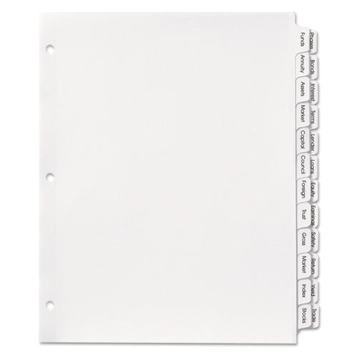 Avery 3 Column Label Template Avery Index Maker Double Column Dividers White 24 Tab
