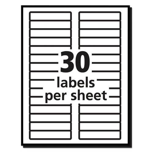 permanent file folder labels trueblock inkjetlaser red 1500box ave5066