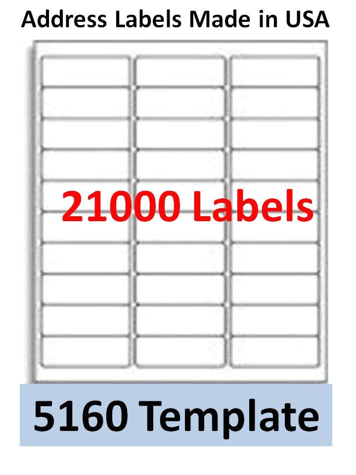 Avery 30 Labels Template 40 Avery Address Template Avery 5160 Printable Template