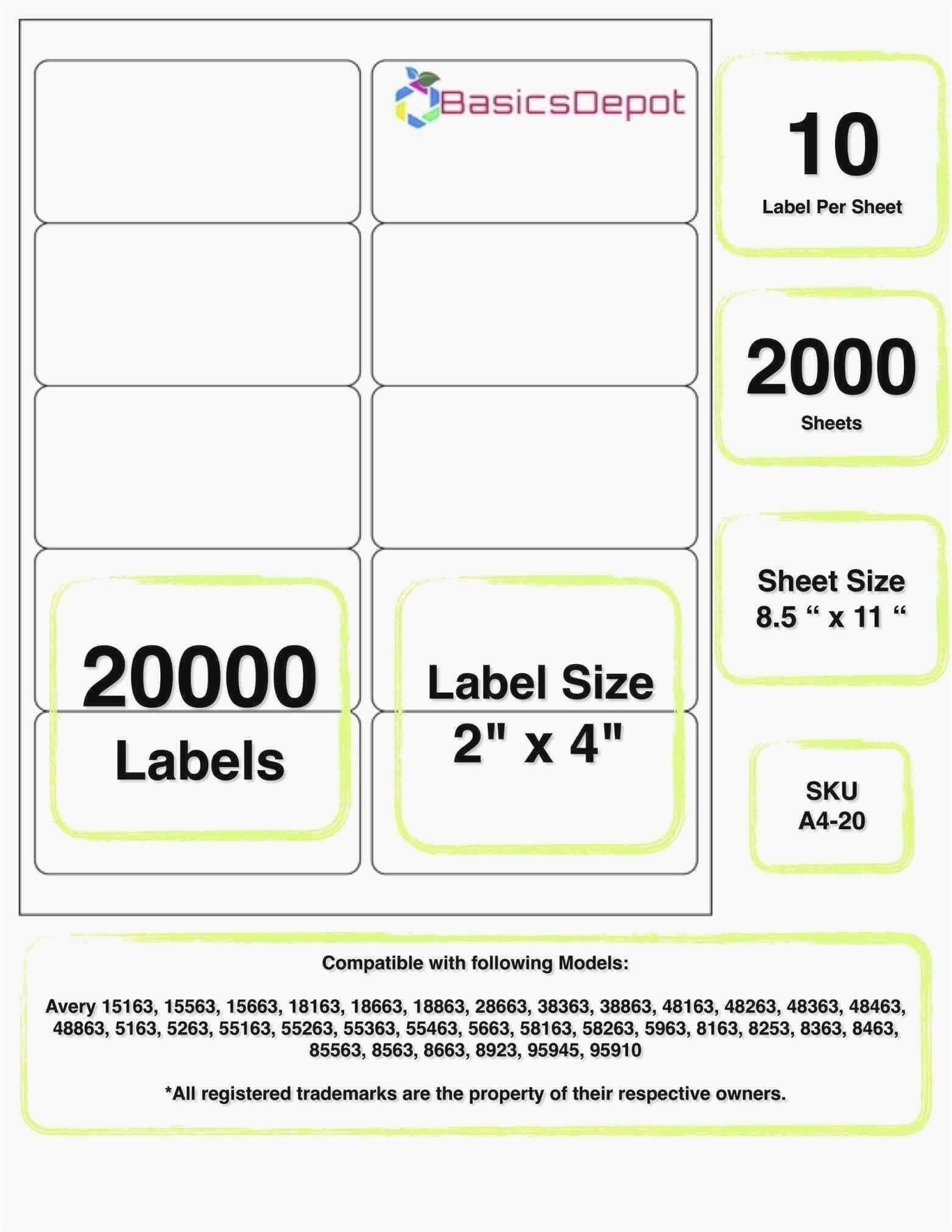 avery 4 up label template