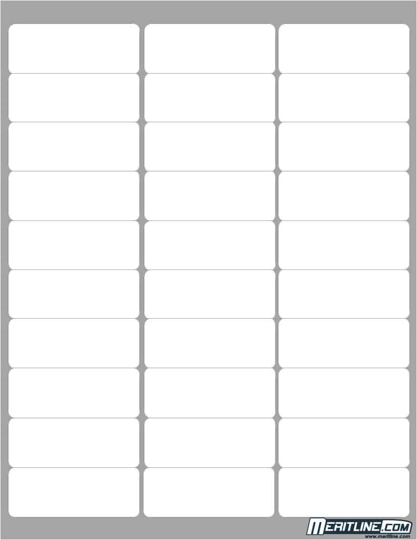 avery 30 labels per sheet template