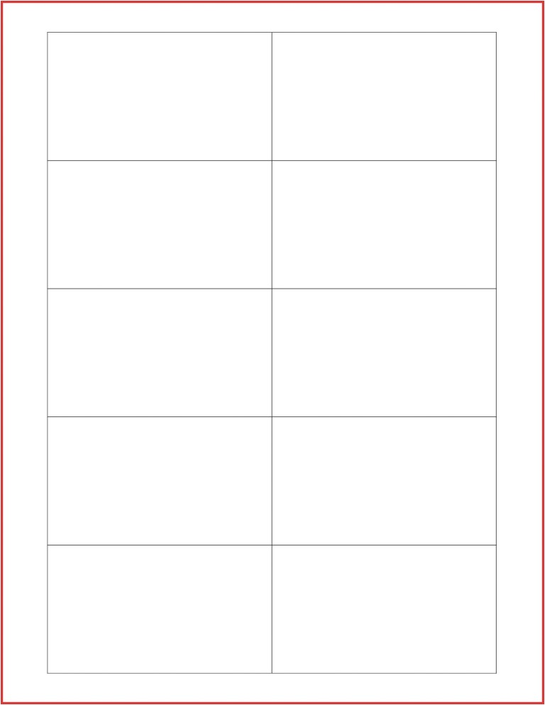 avery note card template