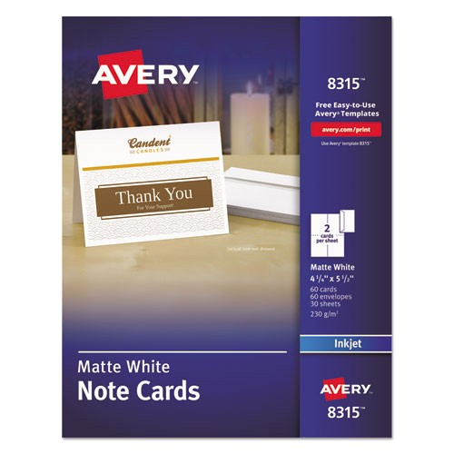 avery note cards with envelopes 8315