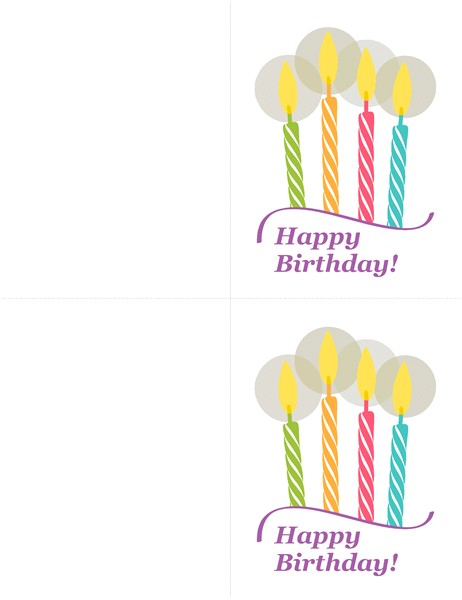 birthday cards 2 per page tm02933929