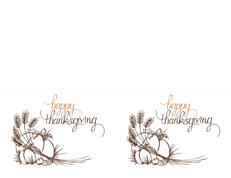 thanksgiving invitations 2 per page for avery 3268 tm03513169