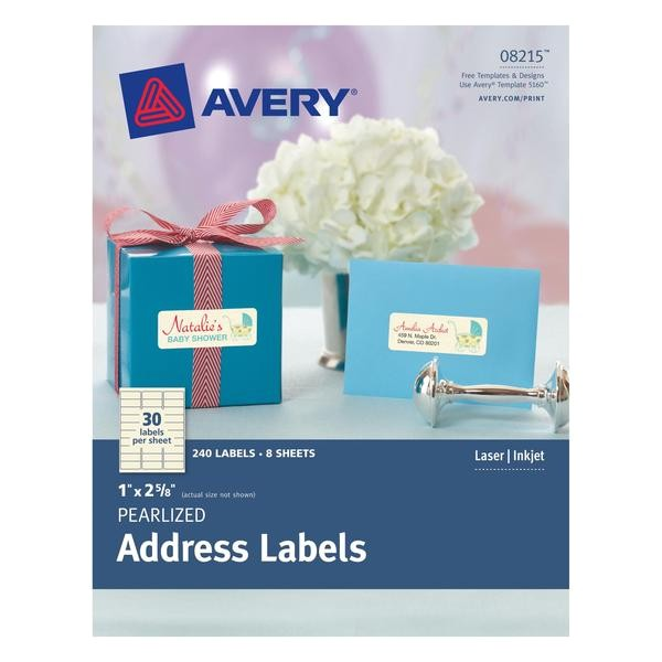avery pearlized ivory address labels 1 x 2 5 8 240 labels