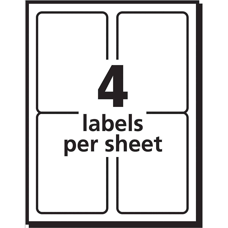 label template 4 per sheet 1982