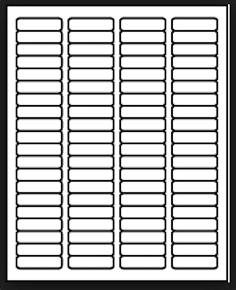 Avery 4×2 Label Template 50 Sheets Laser Inkjet 1 75x 50 Return Address Mailing