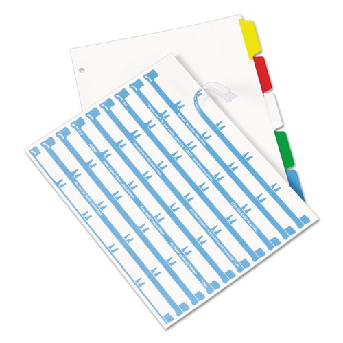 index maker print and apply clear label dividers wcolor tabs 5 tab letter ave11406