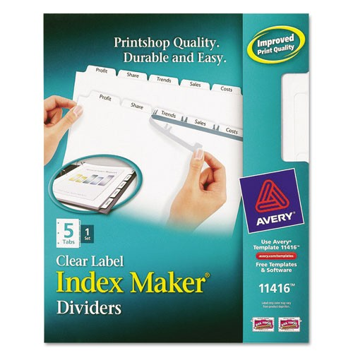 Avery 5 Tab Clear Label Dividers Template Tab Labels Driverlayer Search Engine