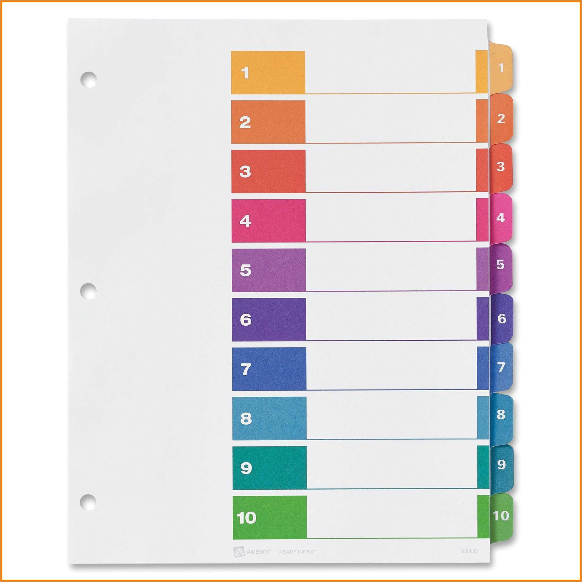 7 avery divider templates