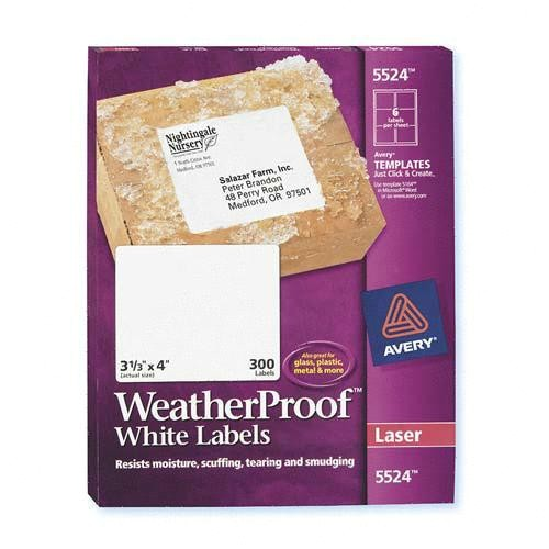 weather proof mailing labels ave5524 2171610 prd1