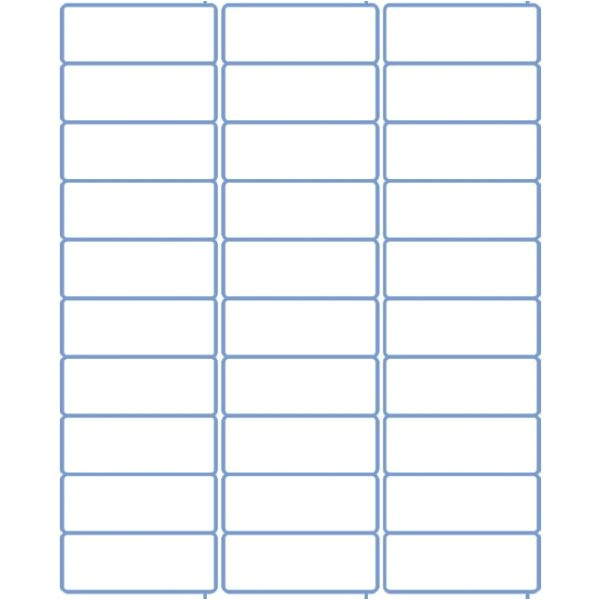 return address label template 60 per sheet