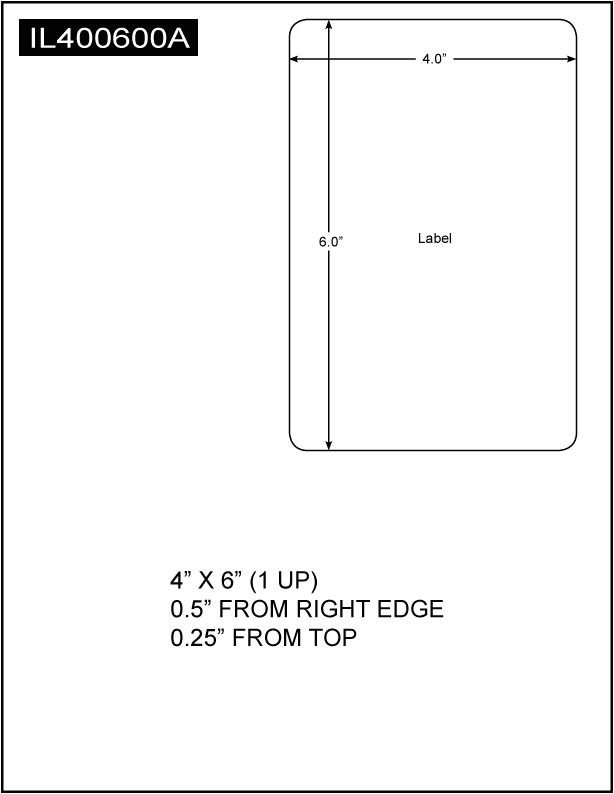 Avery 8.5 X 11 Label Template Integrated Label 4 X 6 1 Up 8 5 X 11 Sheet Size 1 500