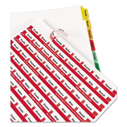 index maker divider wmulticolor tabs 8 tab letter 5 setspack ave11419
