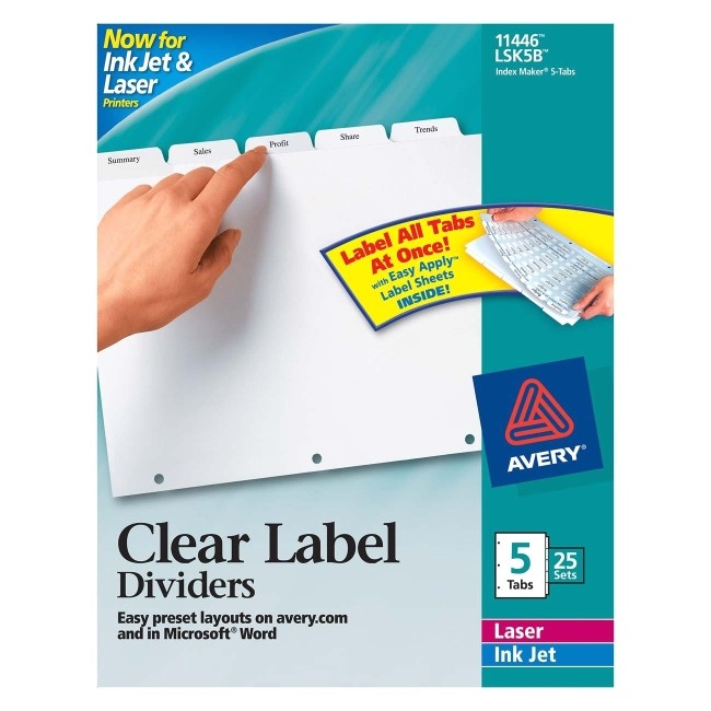 Avery 8 Tab Clear Label Dividers Template Blog Archives Txtmanager