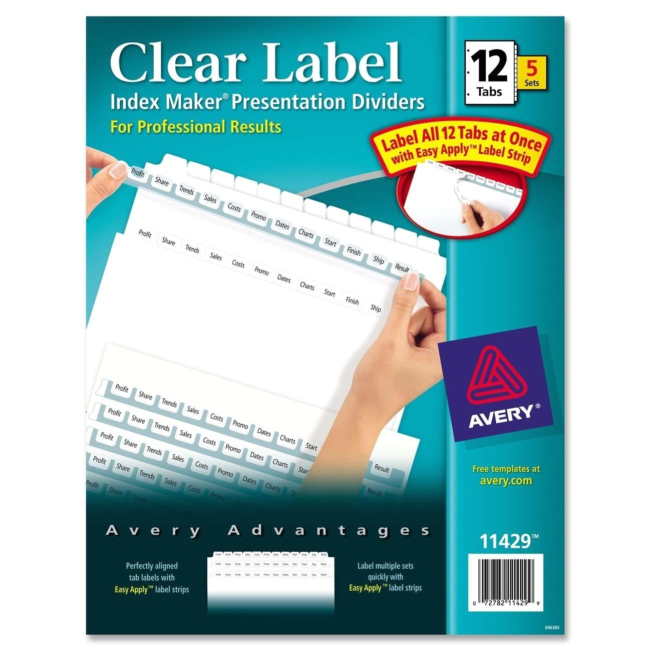 avery ave11429 index maker clear label divider
