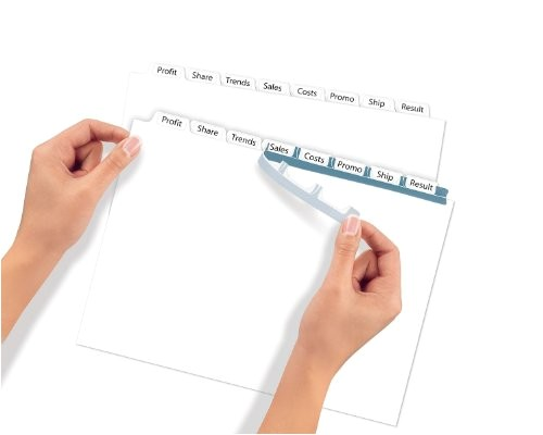 Avery 8 Tab Index Template 11447 Avery Index Maker Clear Label Dividers 8 Tab 25 Sets
