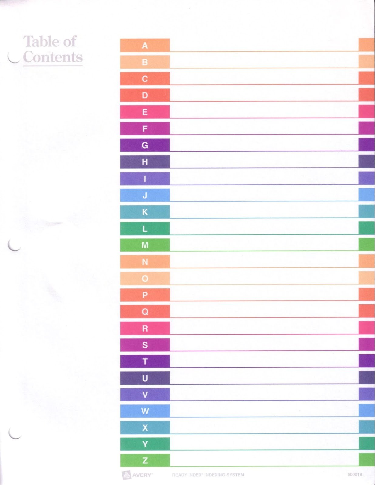Avery 8 Tab Index Template Avery Ready Index Tabs Template Pictures to Pin On