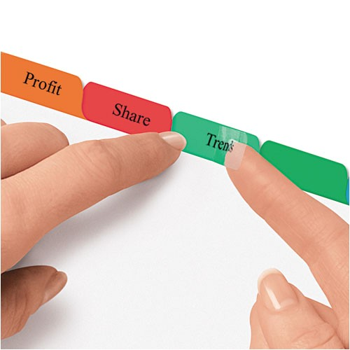 print and apply clear label dividers wcolor tabs 8 tab letter 5 sets ave11419