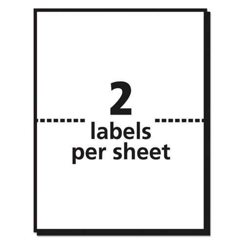 shipping labels wultrahold and trueblock inkjet 5 12 x 8 12 white 50pack ave8126