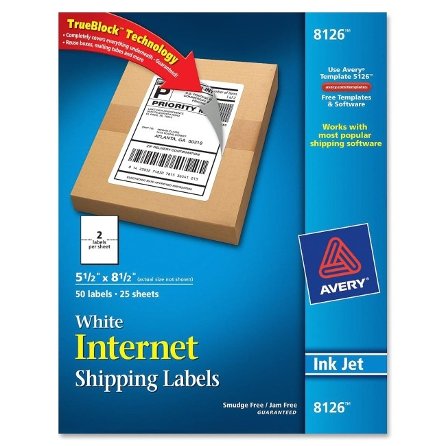 Avery 8126 Shipping Labels Template Printer