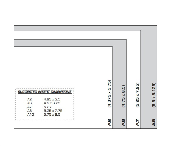 a2 envelope size template