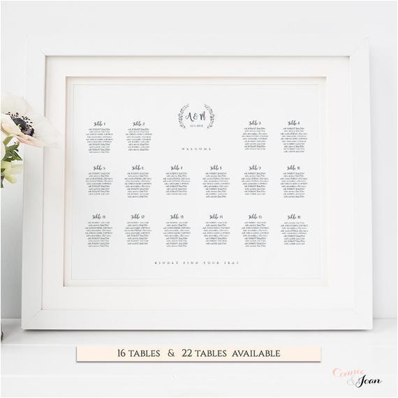 printable wedding table seating plan