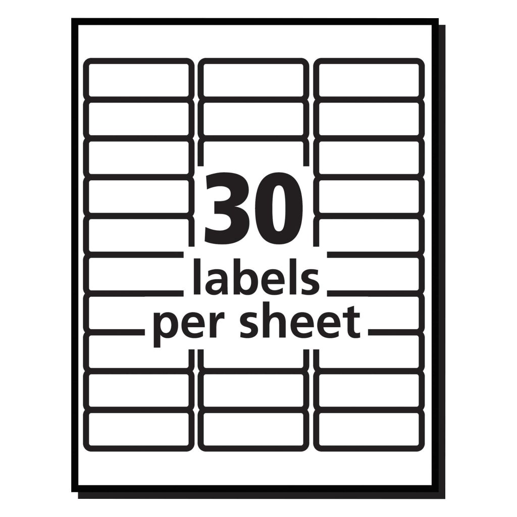 Avery Address Label Template 30 Per Sheet Avery R Easy Peel R Address Labels for Inkjet Printers