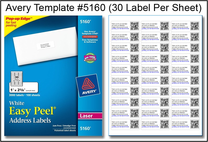 Avery Address Label Template 30 Per Sheet Avery Template for Labels