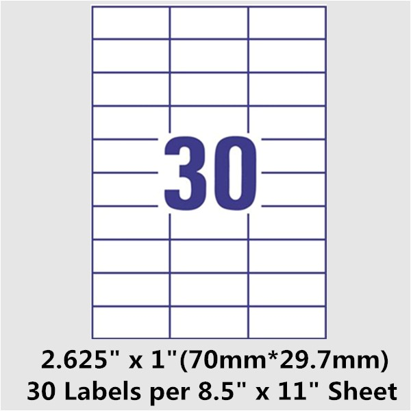 template for labels 30 per sheet