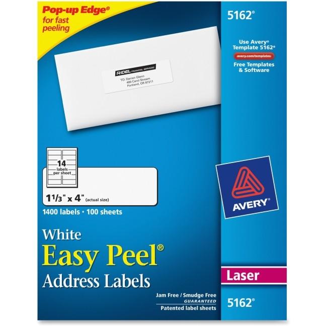 ave5162 avery 5162 easy peel address label