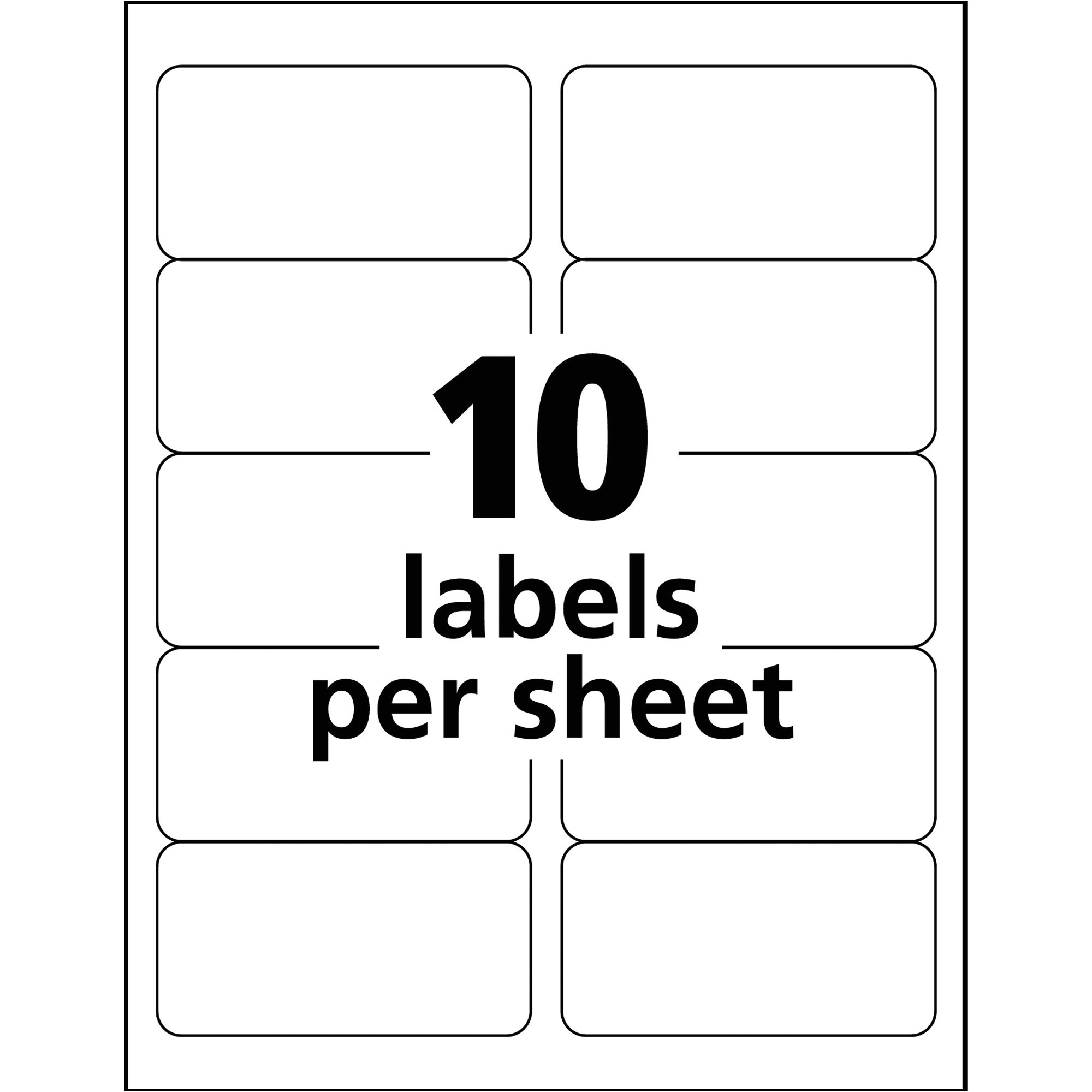 avery templates 10 per sheet
