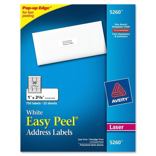 Avery Address Labels Template 5260 Printer