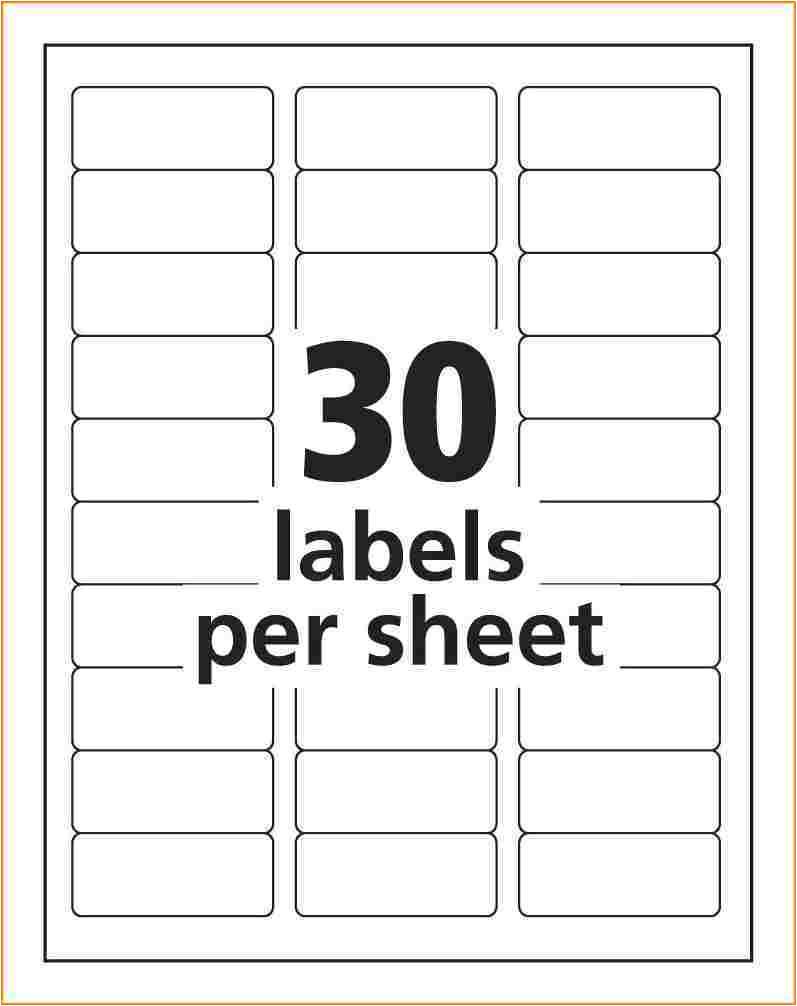 address label template avery 8160