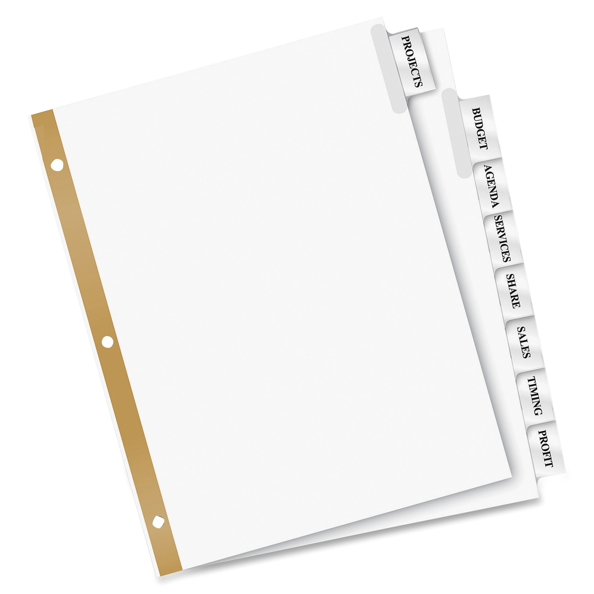 Avery Big Tab Dividers Template Avery Big Tab Insertable Dividers 8 Tab Clear Ld Products