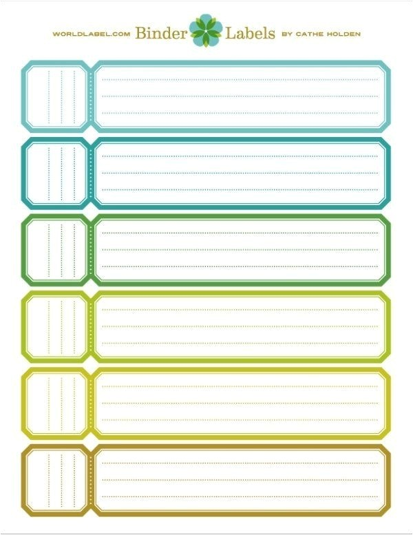 2 inch binder spine template