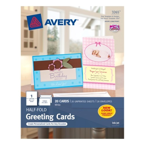 Avery Birthday Card Templates Avery Half Fold Greeting Cards for Inkjet Printers 5 1 2