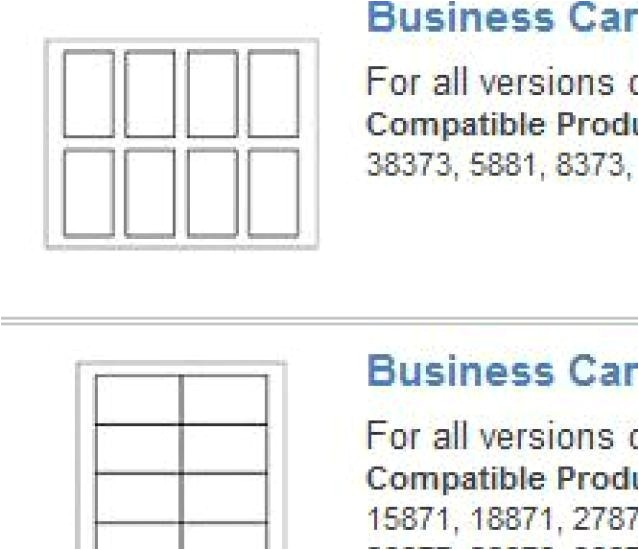 template for avery 8859 business cards