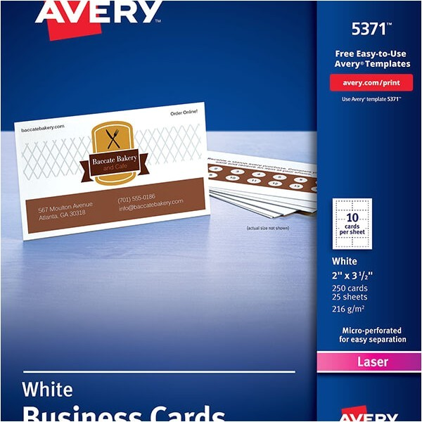 Avery Business Cards Template 5371 Avery Business Cards for Laser Printers 5371 Avery