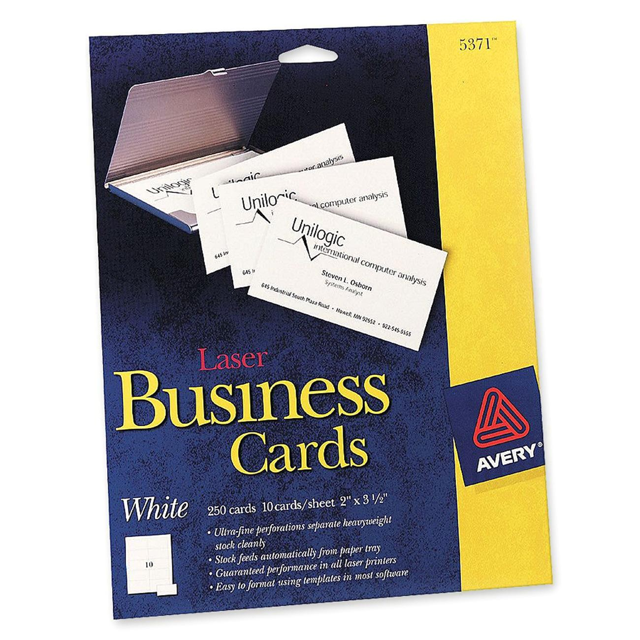 laser perforated business card ave5371 2172408 prd1