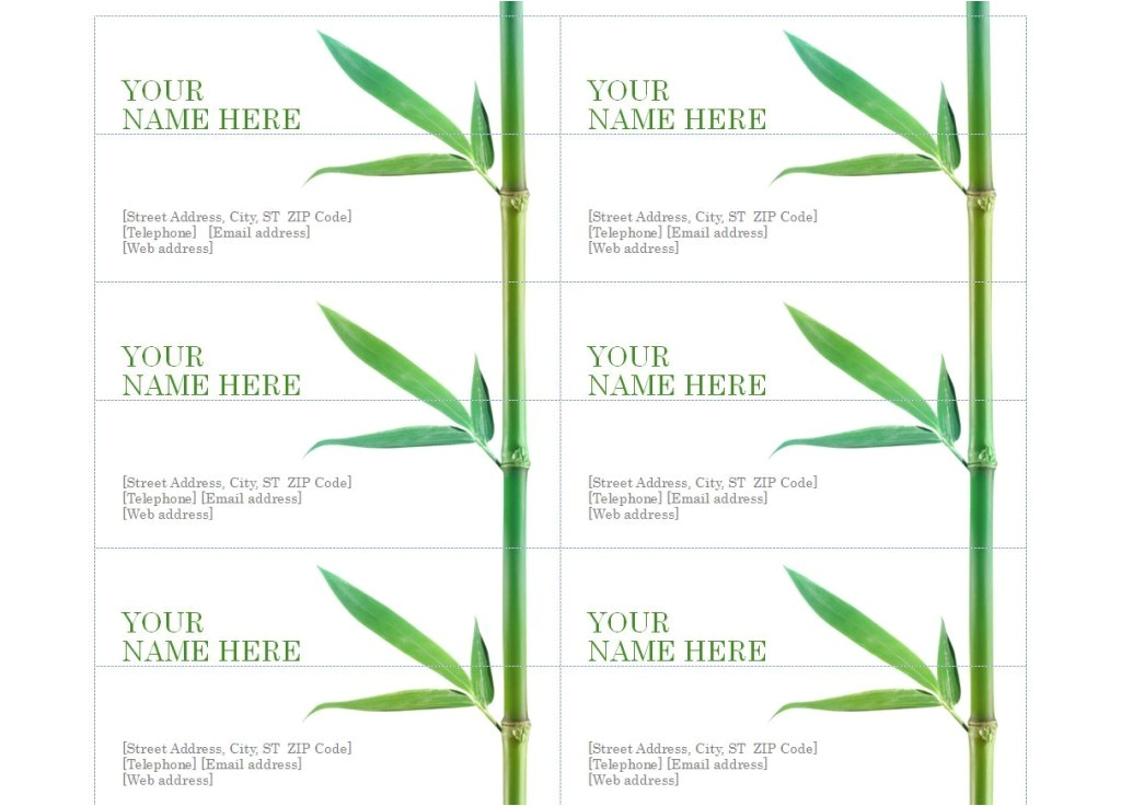 Avery Business Cards Template 8871 Template for Avery 8873 Free software and Shareware